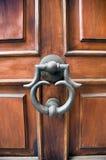 Elegante deur en deurkloppers stock afbeelding
