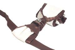 Elegante die de zijdestropdas van luxemensen op wit wordt geïsoleerd royalty-vrije stock afbeeldingen