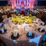 Elegante Dinerlijst Royalty-vrije Stock Afbeeldingen