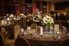 Elegante Dinerlijst Stock Afbeelding