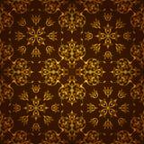 Gouden donkere achtergrond die van symmetrisch patroon wordt gemaakt royalty-vrije illustratie
