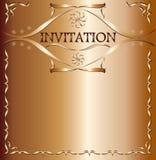 Elegante Einladungskarte Stockfotografie