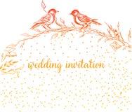 Elegante en leuke illustratie De vogels zitten op elke tak Druk voor textiel en industriële doeleinden En mooi vector illustratie