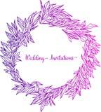 Elegante en leuke illustratie Huwelijkskader van greens en takken Grafisch tekenings bloemenpatroon Textielstof vector illustratie