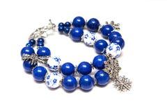 Elegante en moderne die armband van jade wordt gemaakt, ceramisch en zilveren  royalty-vrije stock afbeelding