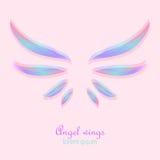 Elegante engelenvleugels Royalty-vrije Stock Afbeelding