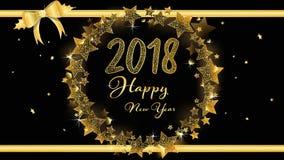 Elegante Fahne von guten Rutsch ins Neue Jahr 2018 vektor abbildung