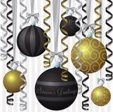 Elegante Farbband-Weihnachtskarte lizenzfreie abbildung
