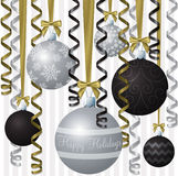 Elegante Farbband-Weihnachtskarte Stock Abbildung