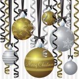 Elegante Farbband-Weihnachtskarte vektor abbildung