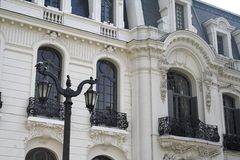 Elegante Fassade - Santiago tun Chile lizenzfreie stockfotografie