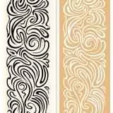 Elegante feestelijke naadloze grens met vlotte lijnen Royalty-vrije Stock Afbeelding