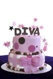 Elegante Fondantje Behandelde Cake - Shalllow DOF Stock Foto