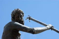 Elegante fontein Neptunus, Danzing, Gdansk, Polen. Stock Afbeeldingen