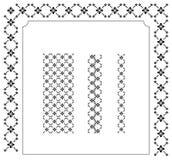 Elegante frame en grenzen Stock Afbeelding