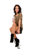 Elegante Frau mit einem Glas lizenzfreie stockbilder