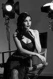 Elegante Frau mit klassischer Hollywood-Welle Lizenzfreies Stockfoto