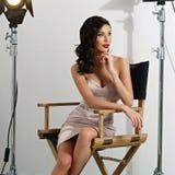 Elegante Frau mit klassischer Hollywood-Welle Lizenzfreie Stockfotografie