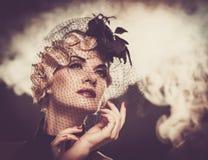 Elegante Frau mit schöner Frisur Lizenzfreies Stockfoto