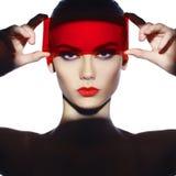 Elegante futuristische dame stock afbeeldingen
