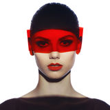 Elegante futuristische dame Royalty-vrije Stock Afbeeldingen