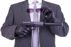 Elegante gangster Stock Foto's