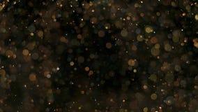 Elegante, gedetailleerde, en gouden deeltjesstroom met ondiepe velddiepte onderwater stock illustratie