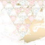 Elegante geometrische kaartreeks Stock Fotografie