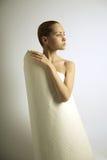 Elegante girl with paper Stock Photos