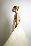 Elegante girl with paper dress Stock Images