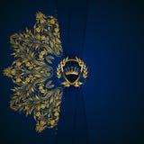 Elegante goldene Rahmenfahne Stockfoto