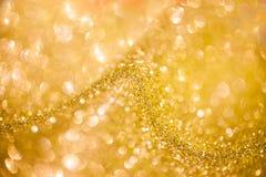 Elegante gouden abstracte achtergrond met bokeh Royalty-vrije Stock Fotografie