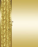 Elegante gouden en bruine achtergrond stock foto