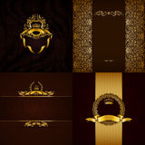 Elegante gouden kaderbanner Stock Foto