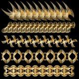 Elegante gouden versiering of grensinzameling royalty-vrije illustratie