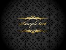 Elegante gouden zwarte achtergrond Royalty-vrije Stock Foto's