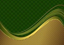 Elegante grüne und goldene Karte Lizenzfreies Stockfoto