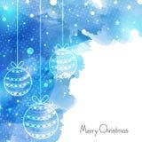 Elegante groetkaart voor Vrolijke Kerstmis Stock Afbeelding