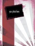Elegante Grunge Schablone mit Foto Lizenzfreies Stockbild
