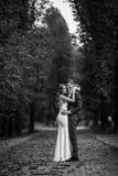 elegante, hoch entwickelte Brautpaare Lizenzfreie Stockfotos