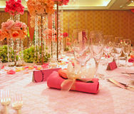 Elegante Hochzeits-Tabelle Stockfotografie