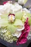 Elegante Hochzeitsblumenstrauß Stockbild