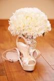 Elegante Hochzeitsschuhe Lizenzfreie Stockfotos