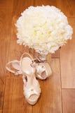 Elegante Hochzeitsschuhe Stockfotografie