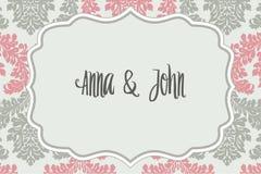 Elegante huwelijksuitnodiging Stock Afbeeldingen