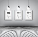 Elegante infographics Designschablone mit shopfront Elementen. Lizenzfreies Stockbild