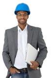 Elegante ingenieur met laptop Stock Afbeelding