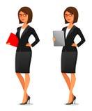 Elegante junge Geschäftsfrau Lizenzfreies Stockfoto
