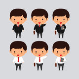 Elegante junge Geschäftsmann-Vektorillustration Stockfotos
