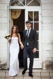 Elegante junge Paare Stockfoto